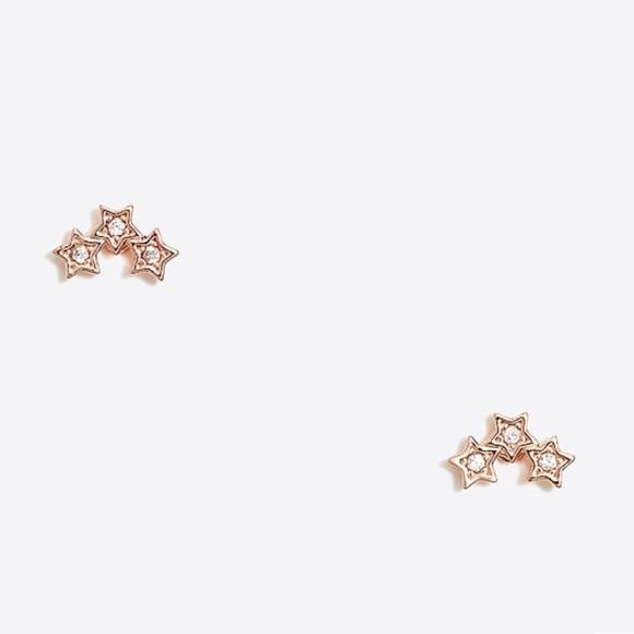 a82981dd9 J. Crew Jewelry | Jcrew Factory Crystal Star Trio Stud Earrings ...